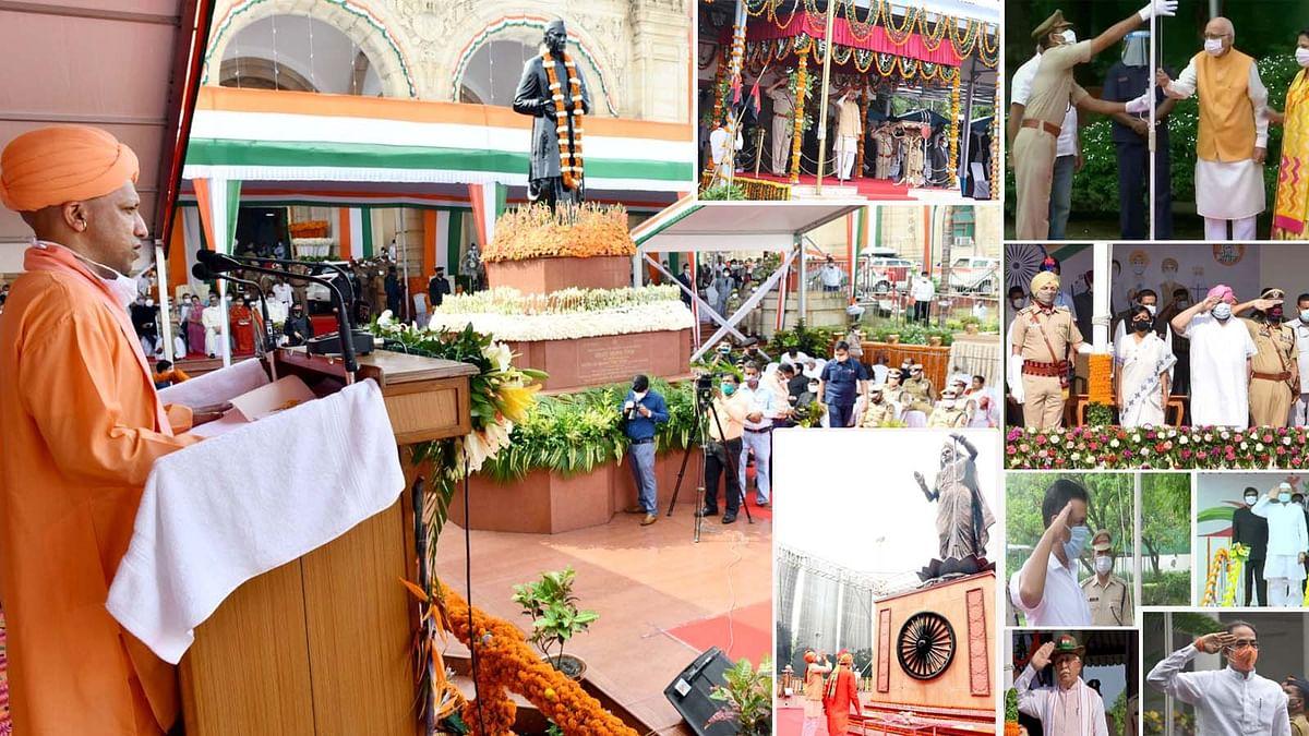 स्वतंत्रता दिवस पर तमाम नेताओं ने फहराया तिरंगा व दिया बधाई संदेश