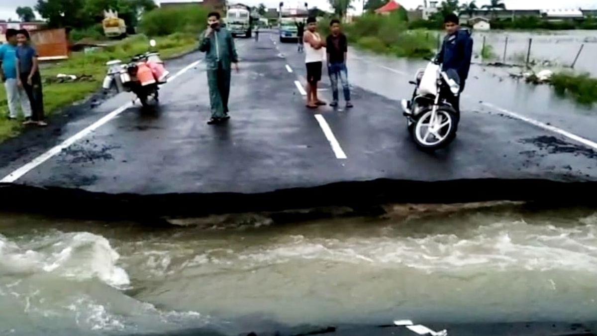 नरसिंहपुर में सर्वाधिक वर्षा से बाढ़ की स्थिति