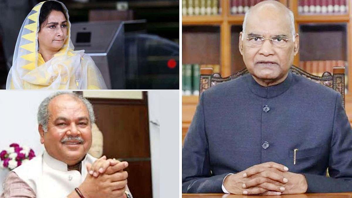 राष्ट्रपति ने स्वीकार किया हरसिमरत का इस्तीफा- नरेंद्र तोमर को सौंपा प्रभार