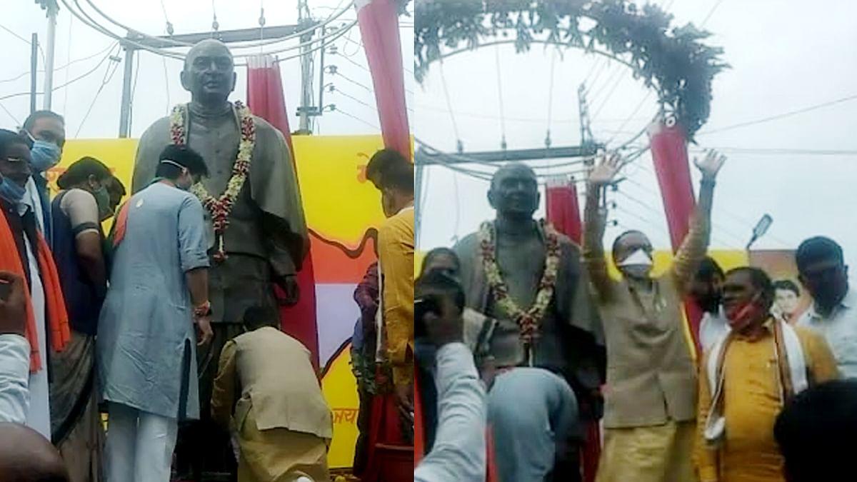 मुख्यमंत्री का बदनावर दौरा, सरदार वल्लभभाई पटेल की मूर्ति का किया अनावरण