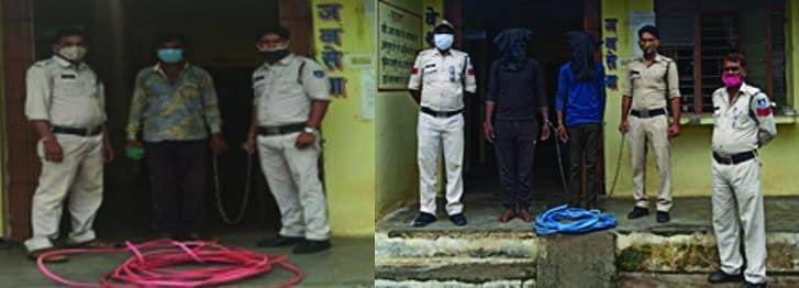 शहडोल : पुलिस गिरफ्त में आये चोरी के तीन आरोपी, 1 फरार