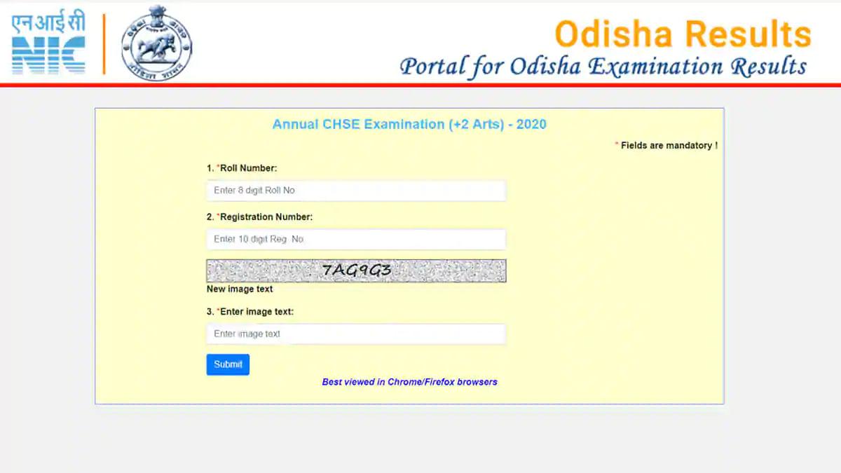 CHSE Odisha 12th Arts Result 2020: ओडिशा 12वीं आर्ट्स के नतीजे जारी