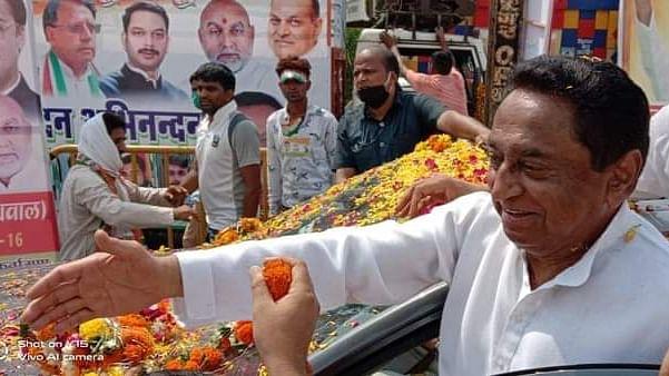 पूर्व CM नाथ का सिंधिया के गढ़ ग्वालियर में रोड शो, स्वागत में उमड़ा जनसैलाब