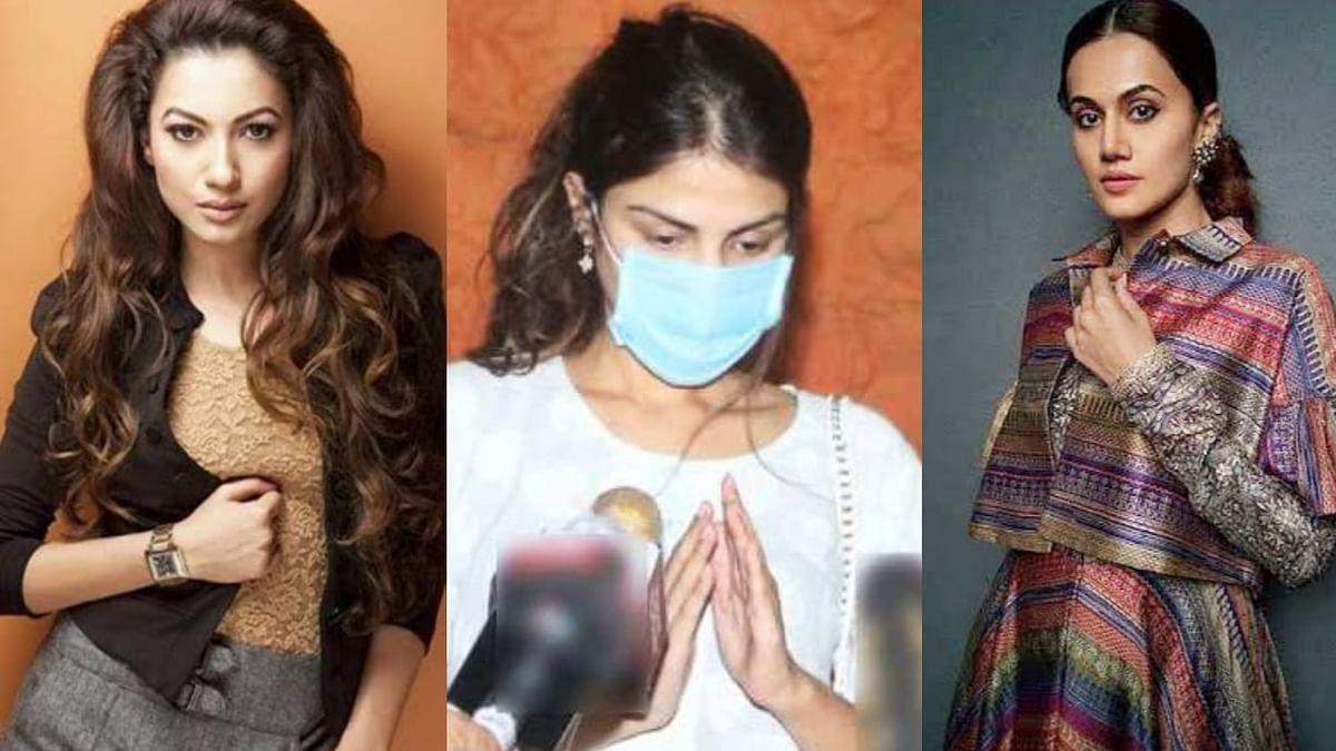 रिया चक्रवर्ती को मीडियाकर्मियों ने घेरा, तापसी-गौहर खान ने जताई नाराजगी