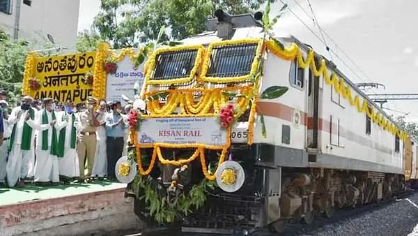Kisan Rail Reached Delhi from Andhra Pradesh