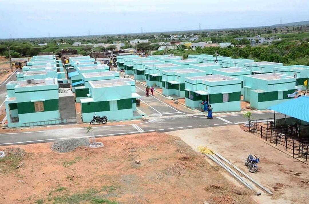 दो एकड़ जमीन पर बनाई गई है आवास कॉलोनी।