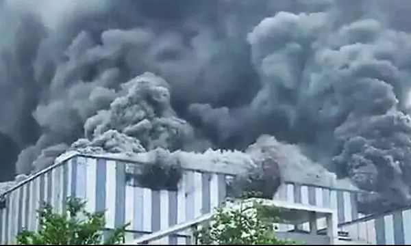 Fire in China Huawei Company