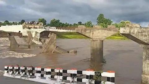 Seoni Wainganga river Bridge broken