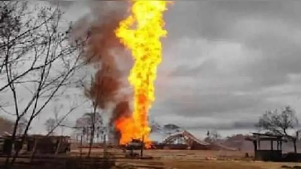Assam Gas Wells Fire