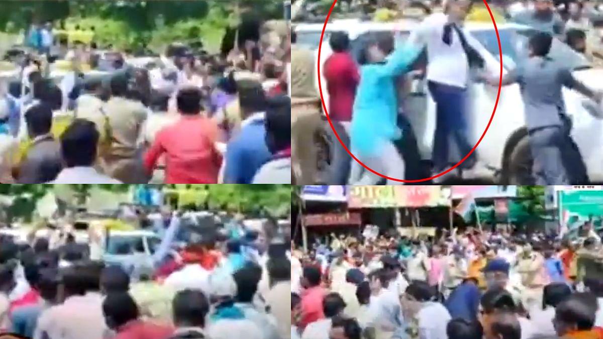 मंदसौर : कमलनाथ का विरोध, BJP युवा मोर्चा कार्यकर्ताओं ने दिखाए काले झंडे