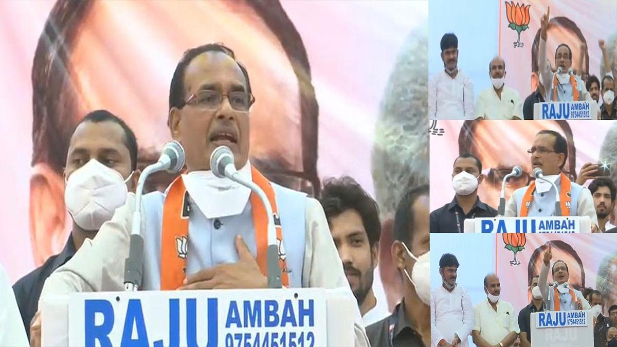 भिंड में आयोजित कार्यक्रम: शिवराज ने कहा- MP मेरा मंदिर है, जनता मेरी भगवान