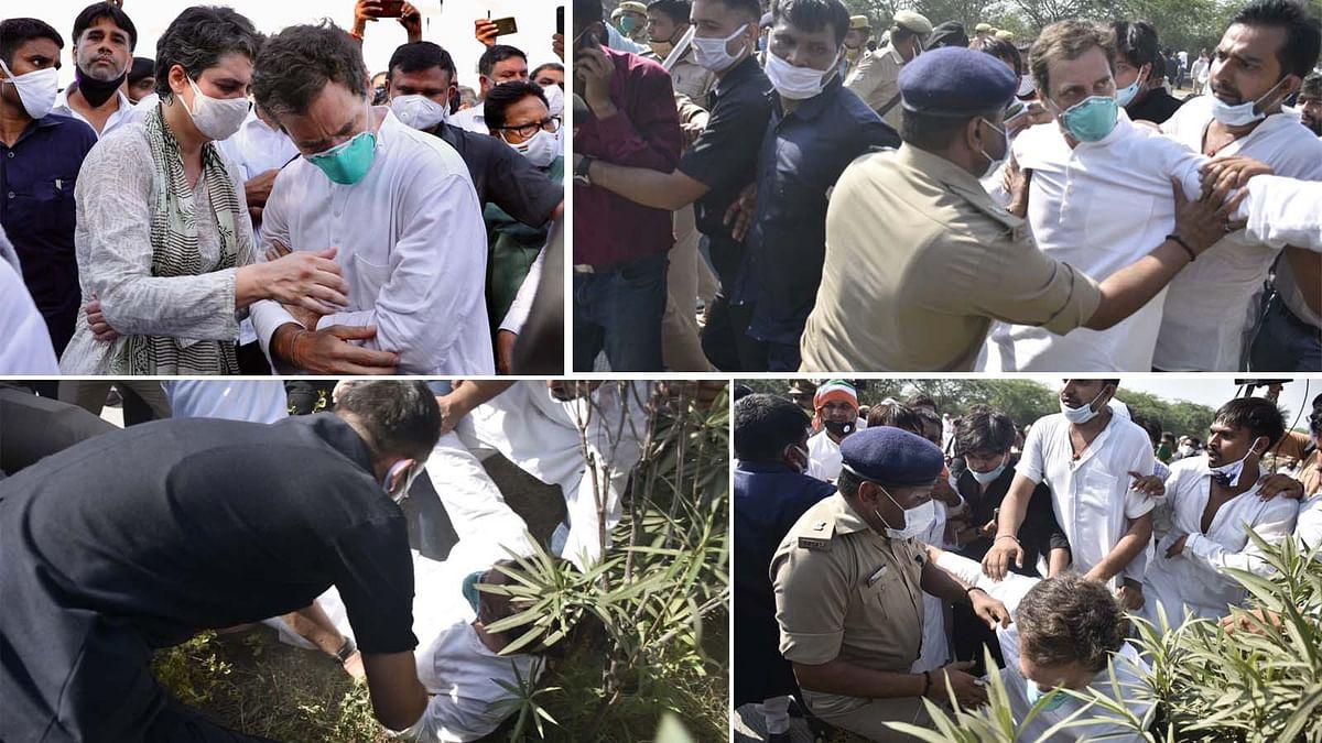 हाथरस कांड: राहुल गांधी के साथ कथित दुर्व्यवहार पर हो रही जबरदस्त आलोचना