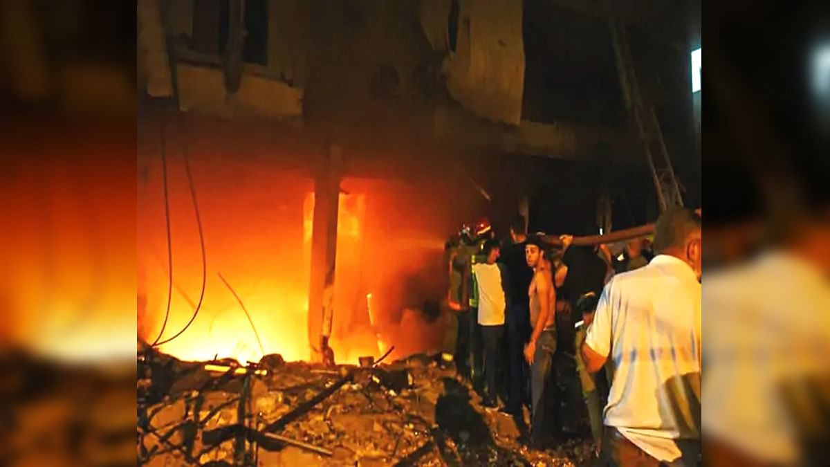explosion due to fire in fuel tank in Beirut