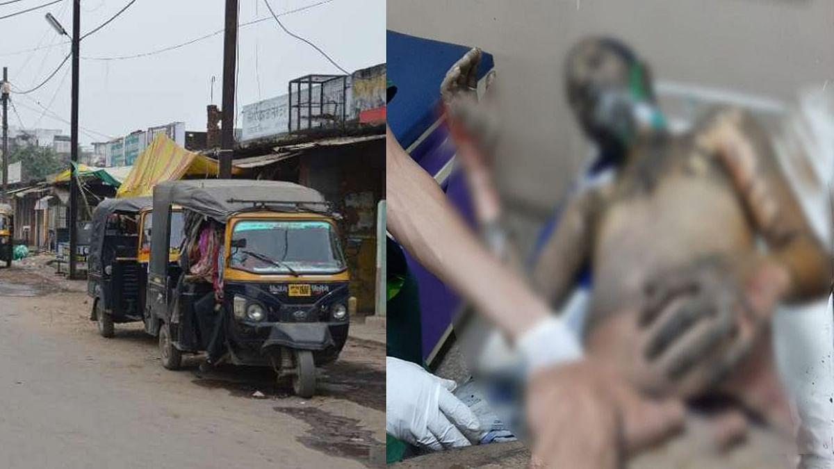 इंदौर में ऑटो चालक को पीटा