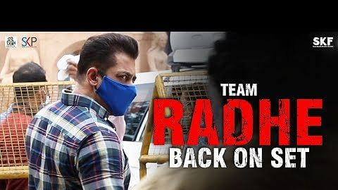 सलमान खान की फिल्म 'राधे' की शूटिंग दोबारा शुरू, सामने आया सेट से वीडियो