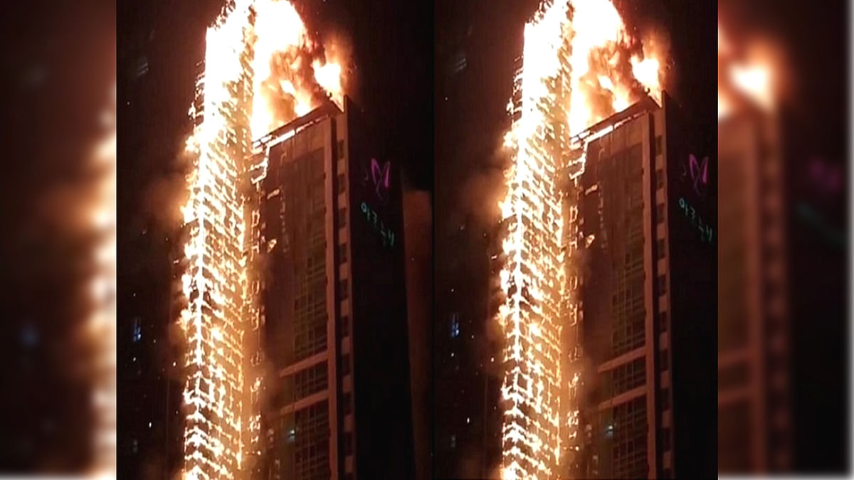 fire in South Korea 33 storey building
