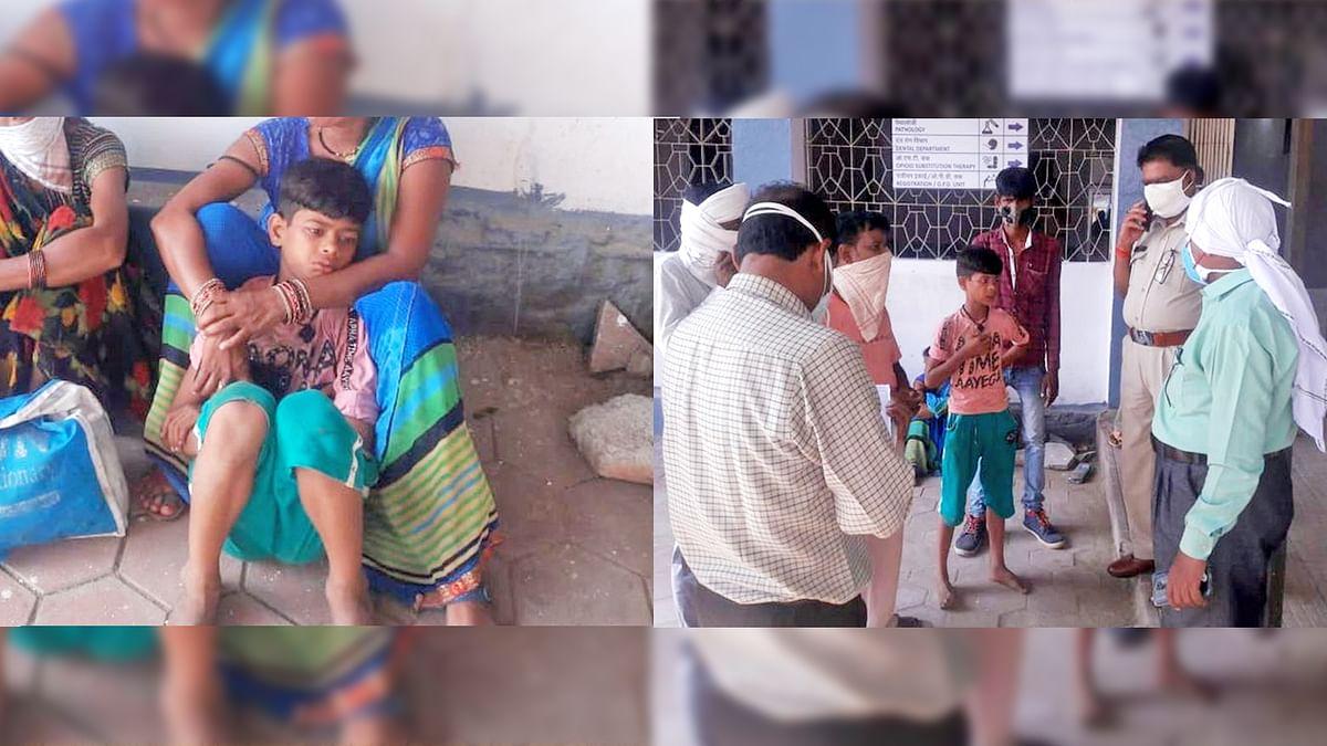 नरसिंहपुर: कार और ऑटो की हुई टक्कर, बालक ने फोन कर एंबुलेंस को किया सूचित
