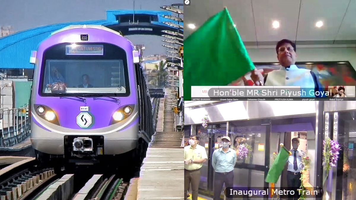 Piyush Goyal flags off Kolkata's Phulbagan metro station