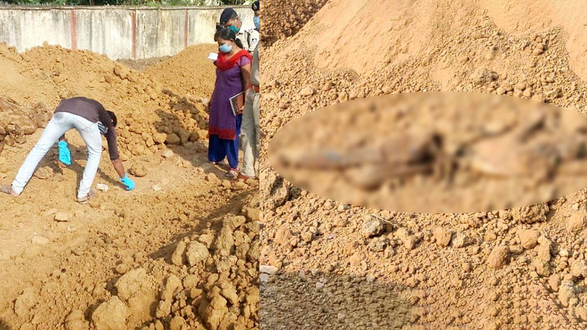 मिट्टी के ढेर में दबी मिली व्यक्ति की लाश, मौत के कारणों का खुलासा नहीं