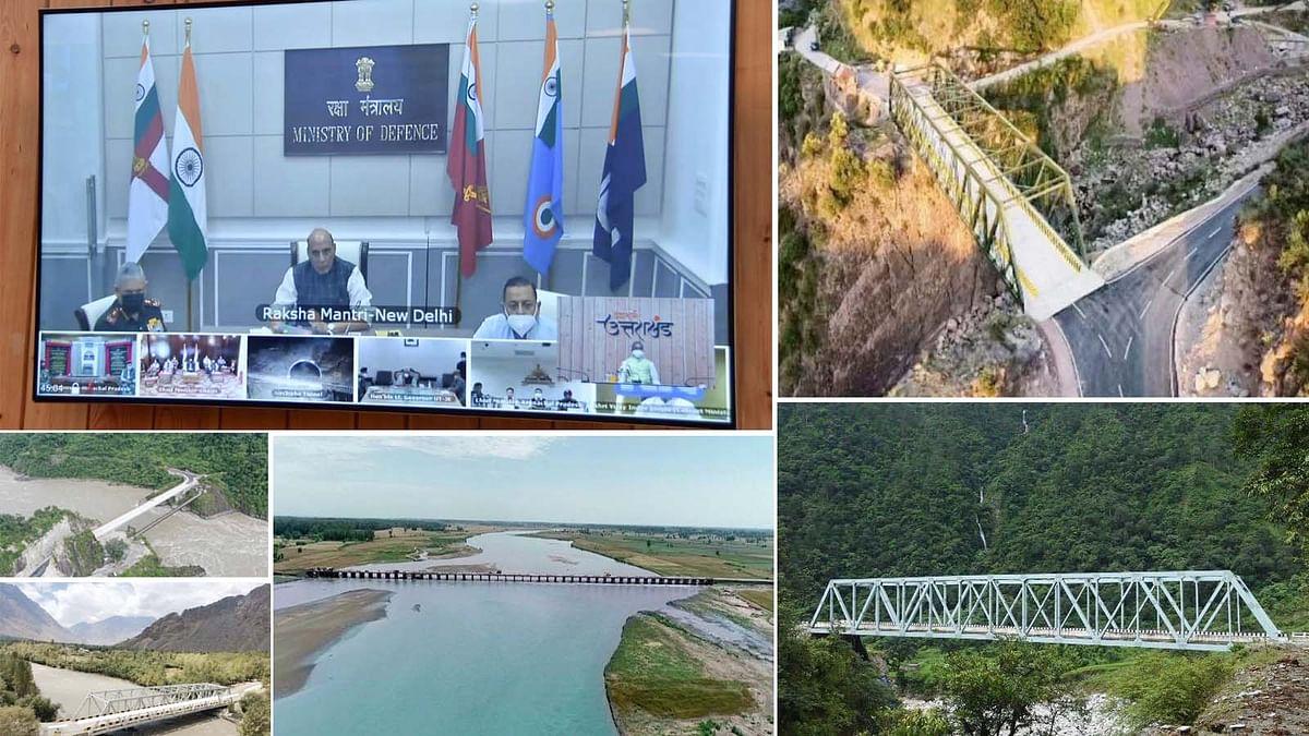 भारत ने बनाया एक बड़ा रिकॉर्ड-सीमा से सटे क्षेत्रों में 44 पुलों का उद्घाटन