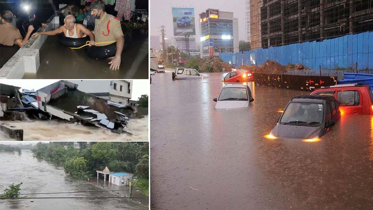 हैदराबाद में काल बनकर आई भारी बारिश, मचा हाहाकार