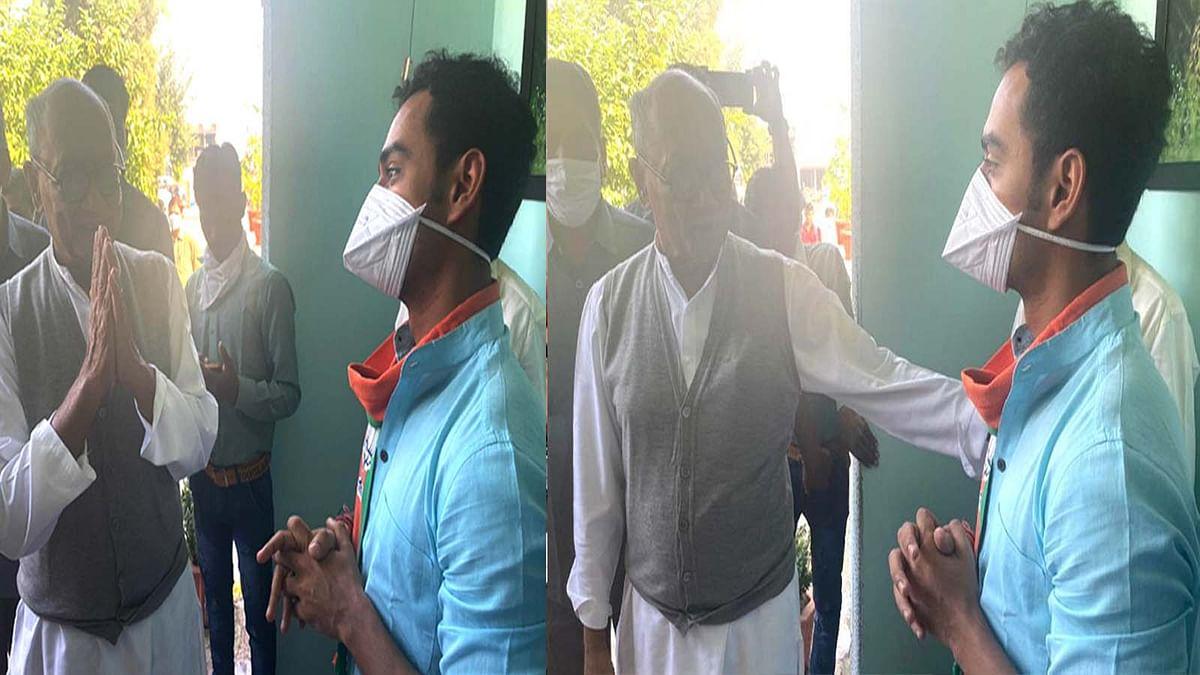 दिग्गी से मिले CM के बेटे कार्तिकेय, जयवर्धन की तबीयत के बारे में पूछा