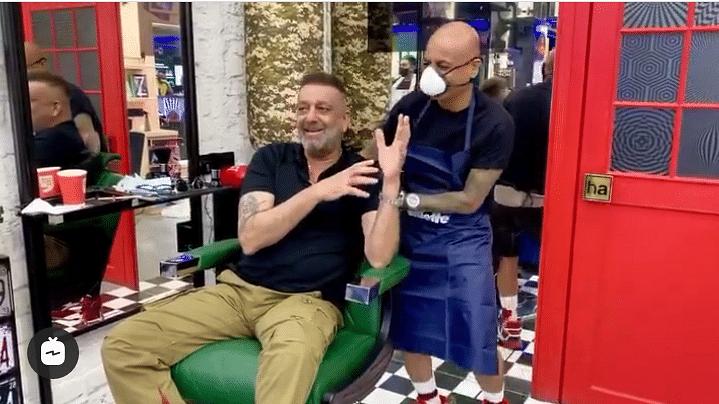 दुबई से लौटने के बाद सलून के बाहर स्पॉट हुए संजय दत्त, वायरल हुआ वीडियो