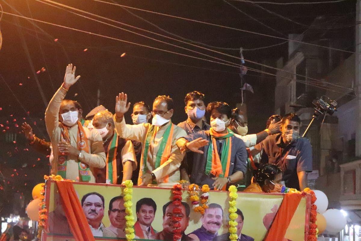 ग्वालियर : रोड शो में भाजपा ने झोंकी ताकत, मांगा समर्थन