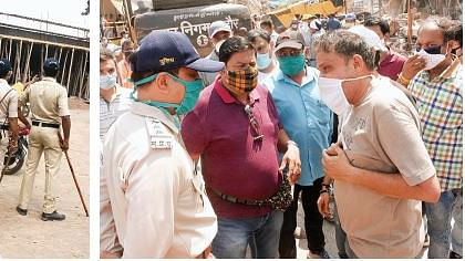 इंदौर : विवाद के बीच निगम ने 13 बाधक मकानों के हिस्से हटाए