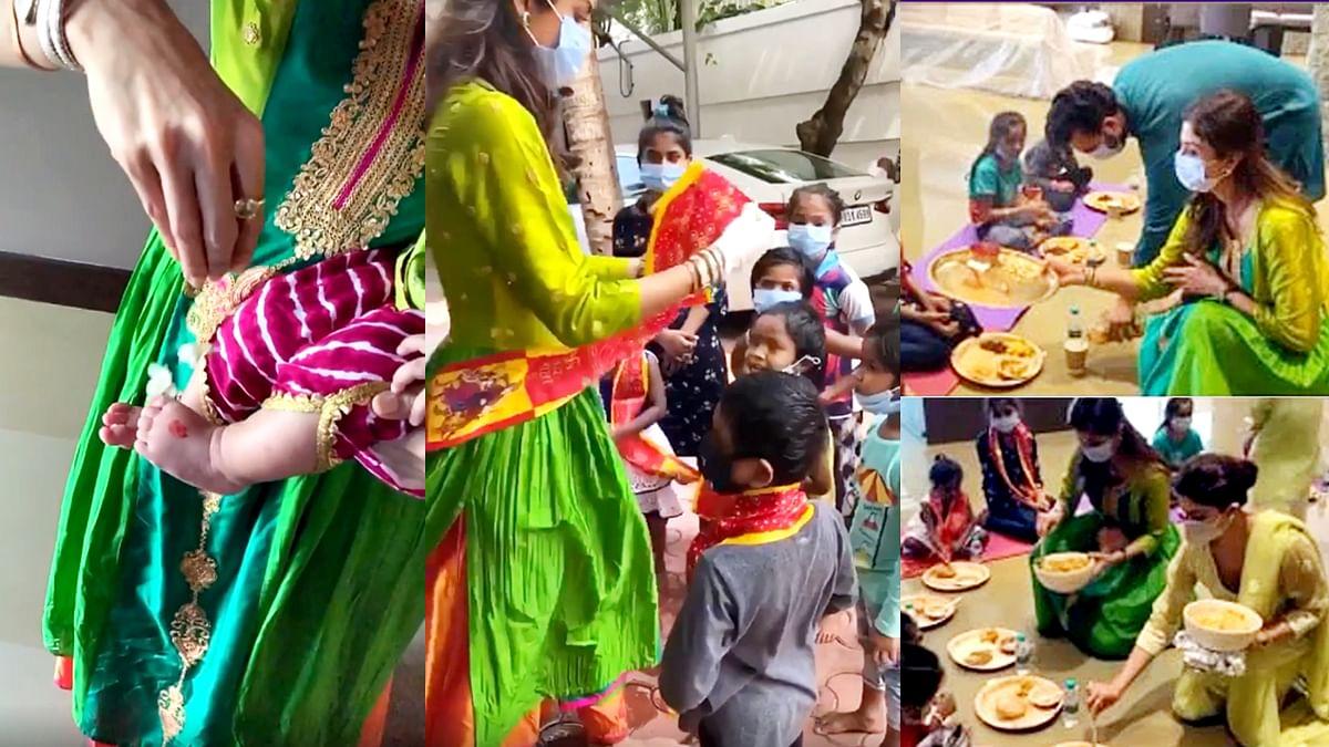 शिल्पा शेट्टी ने बेटी संग मनाई पहली नवरात्रि, शेयर किया वीडियो