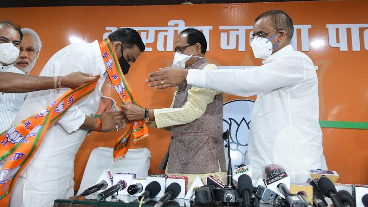 उपचुनाव से पहले कांग्रेस को लगा झटका, MLA राहुल सिंह लोधी BJP में शामिल