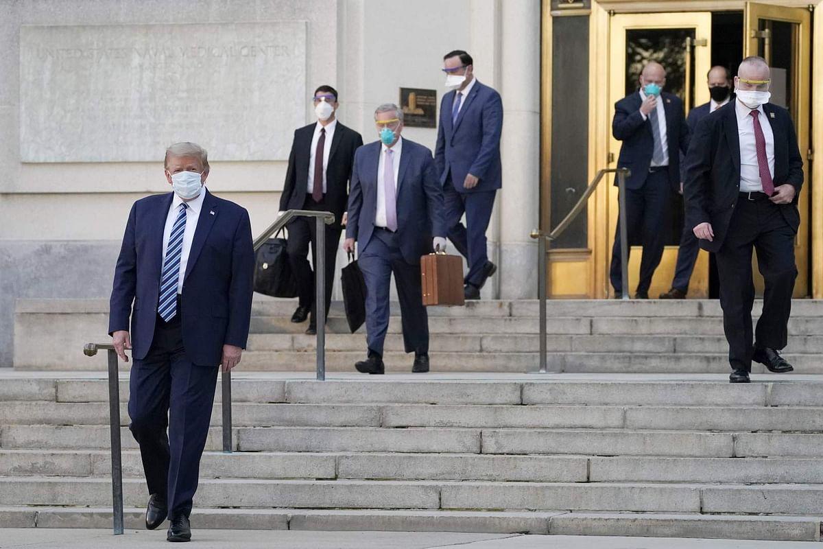 अमेरिकी ट्रम्प अस्पताल से लौटकर वाइट हाउस में शिफ्ट, कहा-कोरोना से डरे नहीं