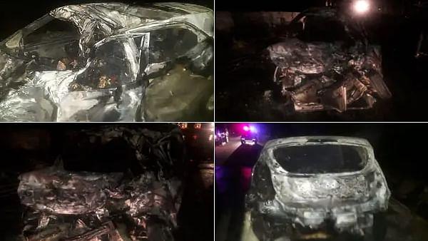 पंजाब: कार-ट्रक की टक्कर से लगी आग, 5 जिंदा जले