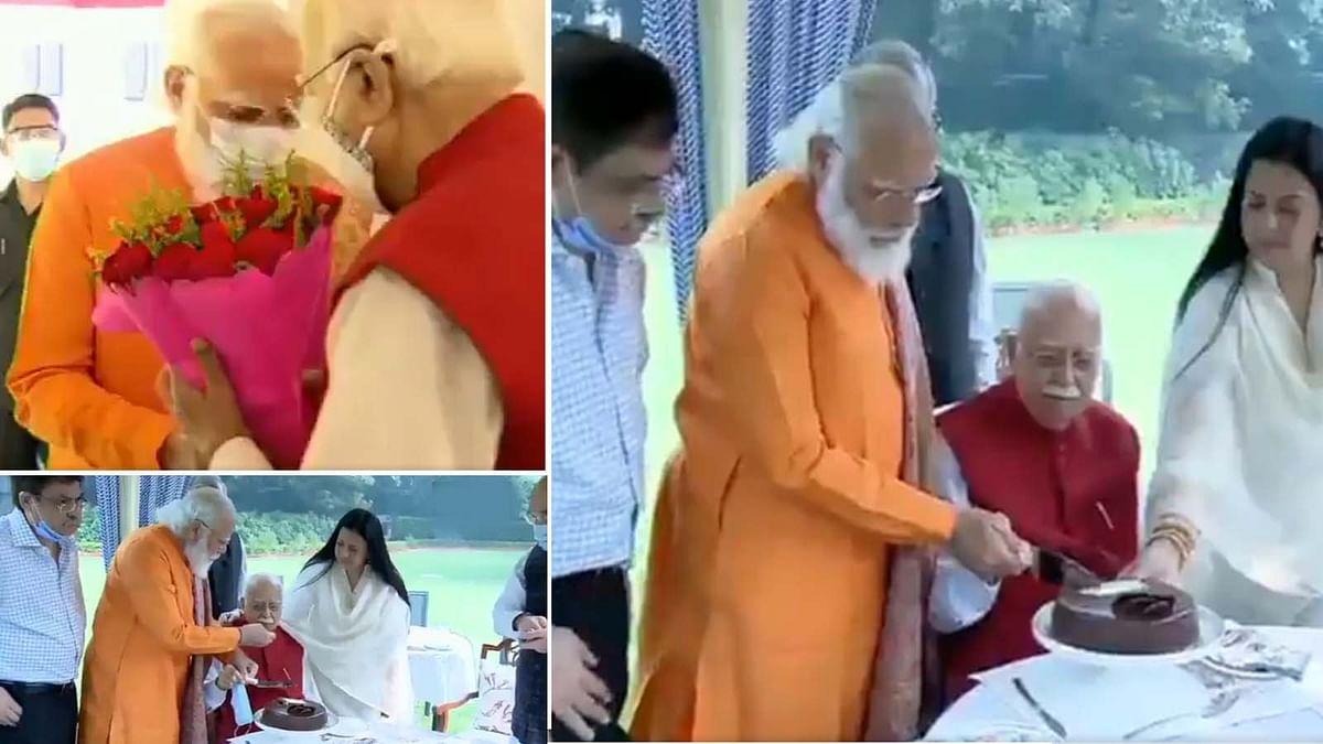 PM मोदी ने आडवाणी को घर जाकर दी जन्मदिन की बधाई- केक काटकर मनाया बर्थडे