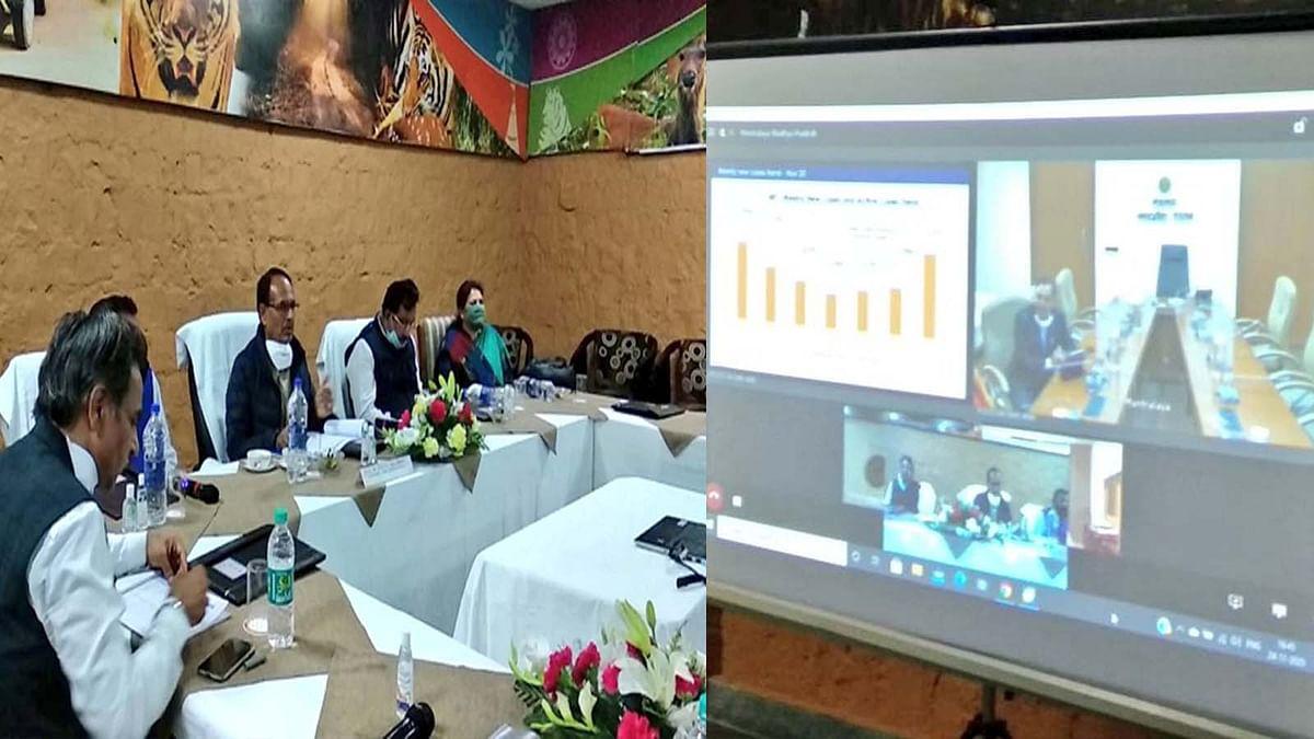 सीएम शिवराज पहुंचे बांधवगढ़, कोरोना की मौजूदा स्थिति को लेकर की समीक्षा बैठक