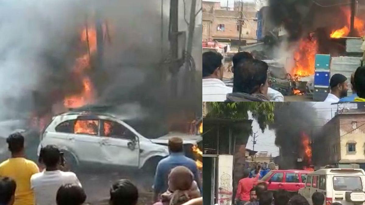 भोपाल में शॉर्ट सर्किट से ट्रांसफार्मर में लगी आग, 8 गाड़ियां हुईं ख़ाक