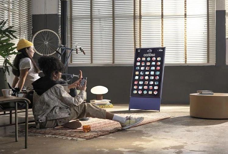 Samsung ने भारत में लांच किया 4k qled रोटेटिंग टीवी 'Sero'