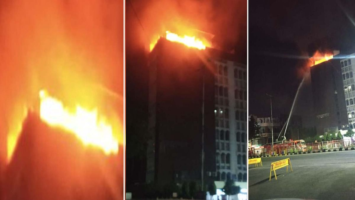 भोपाल: न्यू मार्केट के पास पंचानन बिल्डिंग में लगी भयंकर आग, मची अफरा-तफरी