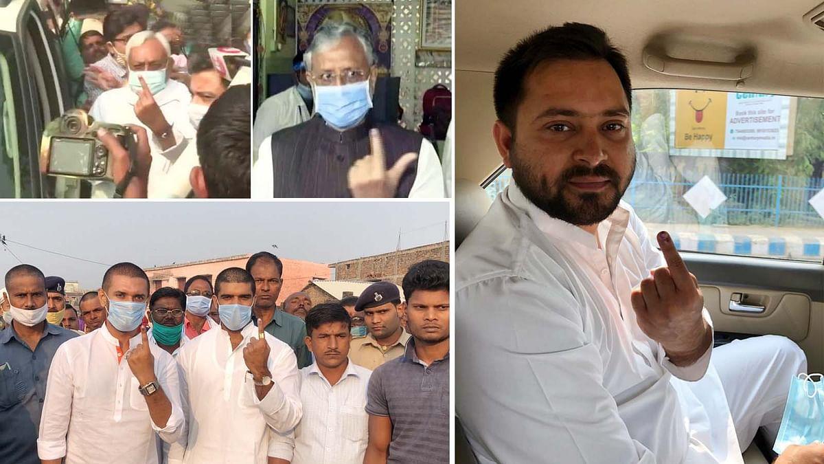 बिहार चुनाव के दूसरे चरण की वोटिंग- CM नीतीश समेत कई दिग्गजों ने डाला वोट