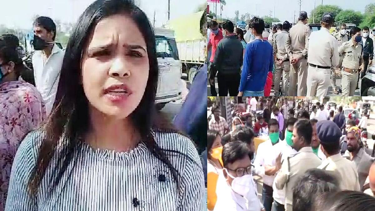 BJP और कांग्रेस के कार्यकर्ता आमने-सामने आने पर रानी बौरासी ने की शिकायत
