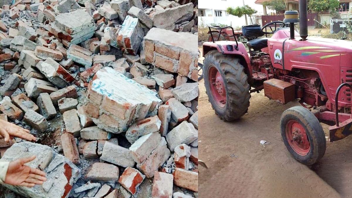 नरसिंहपुर: ट्रैक्टर की टक्कर से भरभरा कर गिरी दीवार, तीन बच्चों की हुई मौत