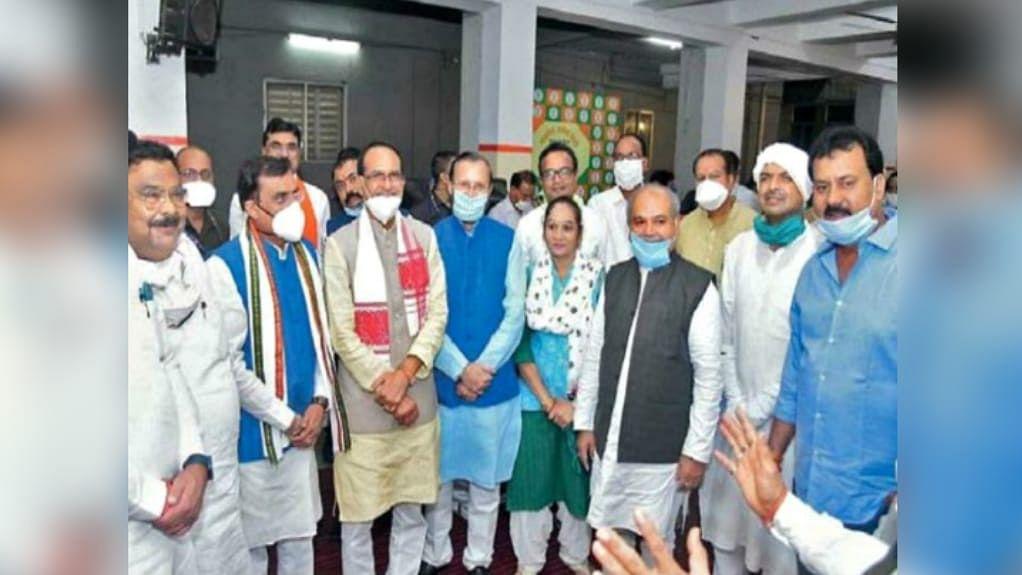 मंत्री भूपेंद्र सिंह से इन तीन नेताओं ने की मुलाकात, बीजेपी को दिया समर्थन
