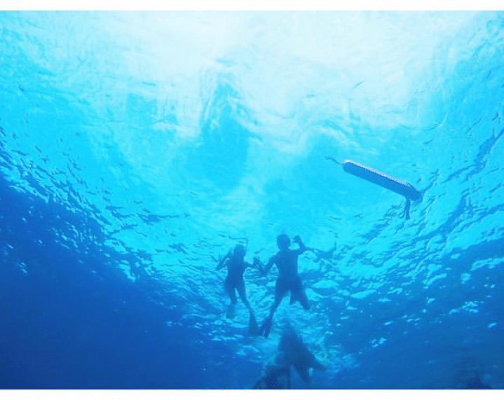 काजल अग्रवाल समंदर में पति गौतम संग तैरती आईं नजर