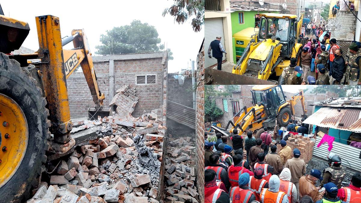 इंदौर: प्रशासन की बड़ी कार्रवाई, भू-माफिया गुलाब के मकान को किया जमींदोज