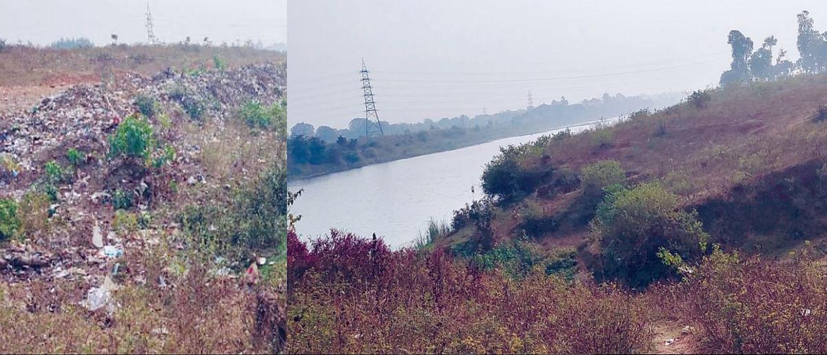 संकट में सोन: कॉलोनी का कचरा जा रहा नदी की धारा में
