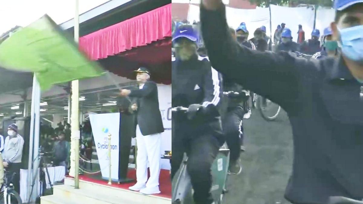 भोपाल में फिट इंडिया प्रोग्राम आयोजित, डीजीपी जौहरी ने दिखाई हरी झंडी