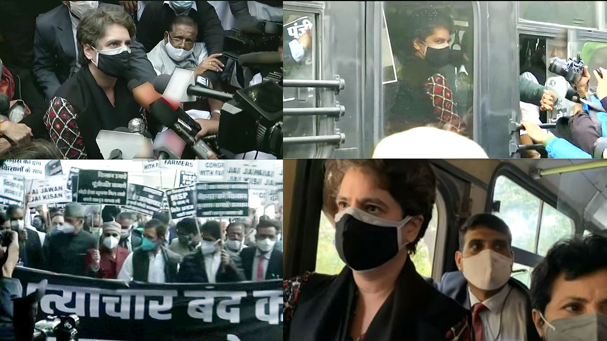 General Secretary Priyanka Gandhi Vadra and several Congress leaders arrested due to farmer agitation