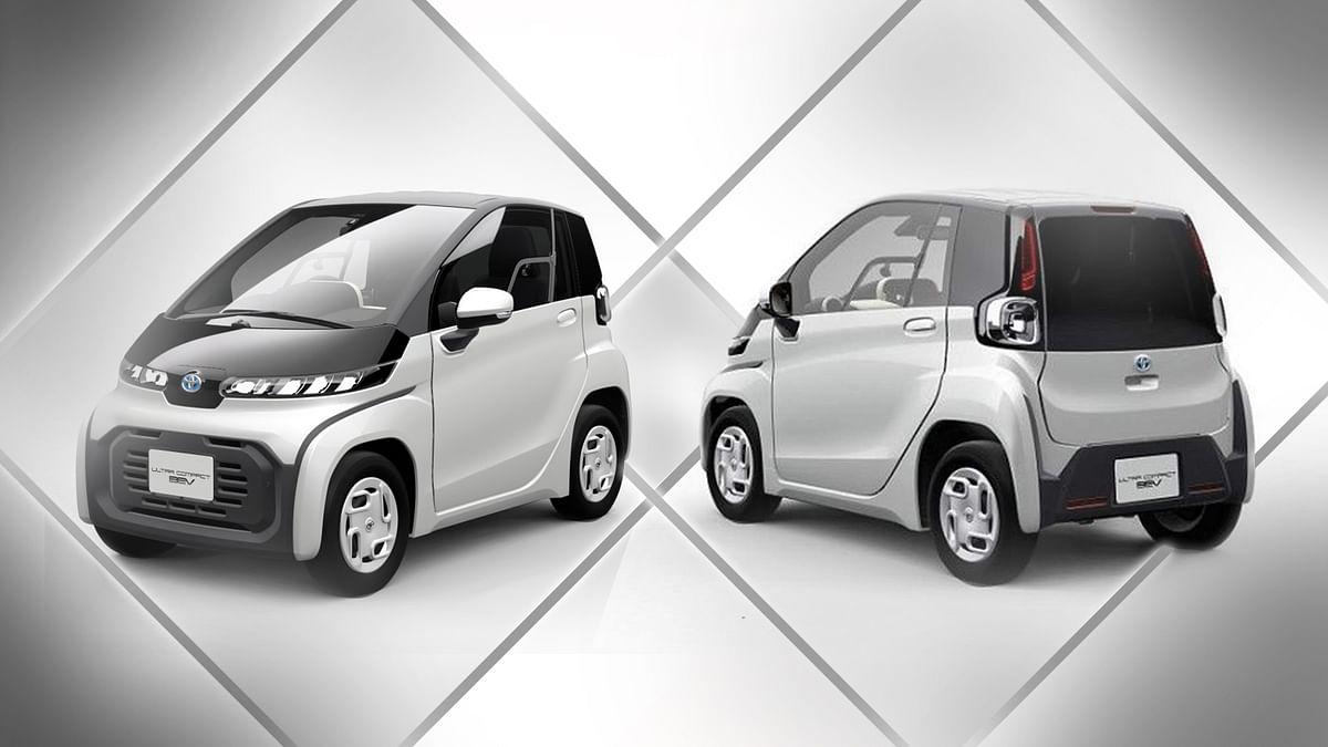 Toyota ने लांच की सबसे छोटी कार इलेक्ट्रिक कार 'C + pod'