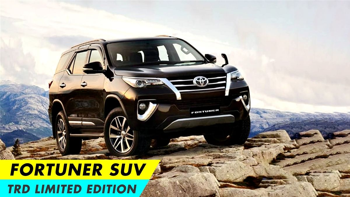Toyota discontinues TRD Limited Edition of Fortuner SUV in India