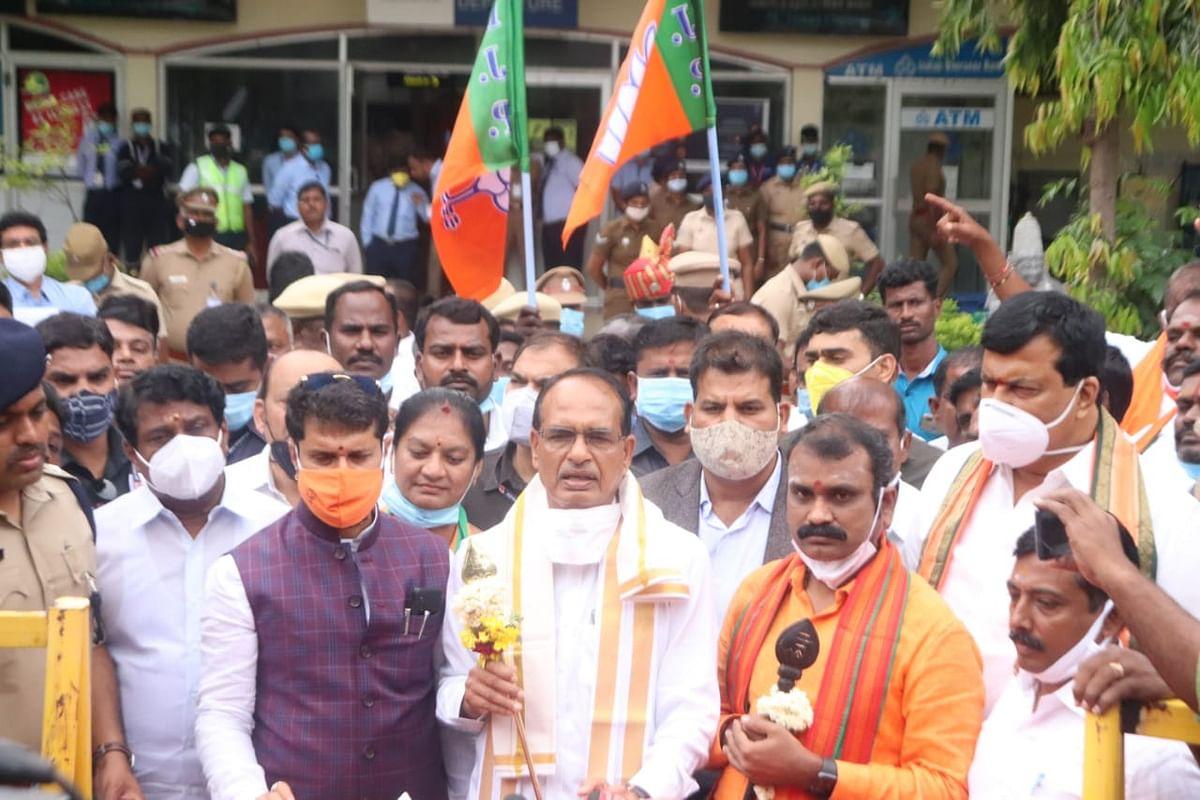 तमिलनाडु में हिंदू संस्कृति पर टिप्पणी करने वालों पर गरजे शिवराज सिंह चौहान